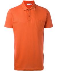 Camisa polo naranja de Sunspel