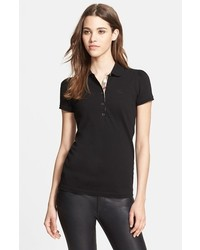 Camisa polo negra