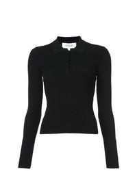 Camisa Polo Negra de Derek Lam 10 Crosby
