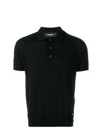 Camisa polo negra de DSQUARED2