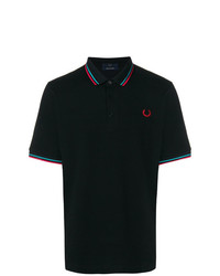 Camisa polo negra de Fred Perry X Art Comes First