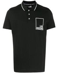 Camisa polo negra de Love Moschino