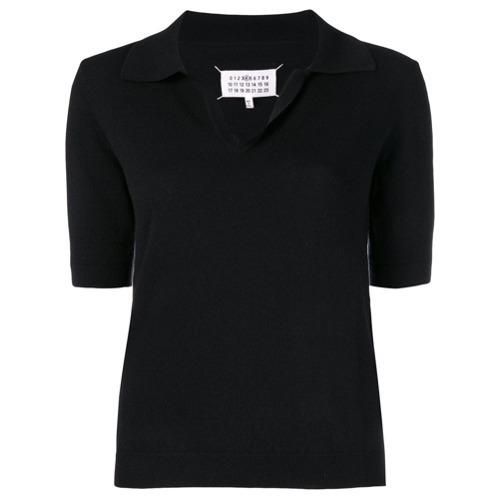 ... Camisa polo negra de Maison Margiela ... f2eda675ecfbf