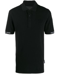 Camisa polo negra de Philipp Plein