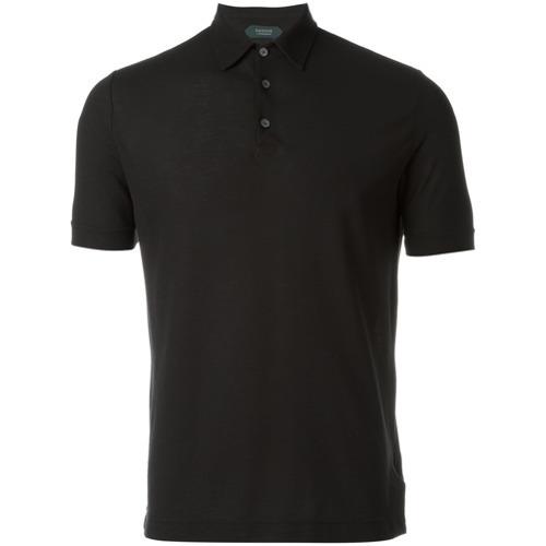 nueva productos b3f79 82543 MEX$3,130, Camisa polo negra de Zanone
