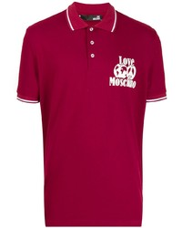 Camisa polo roja de Love Moschino