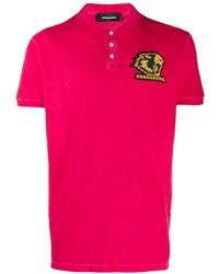 Camisa polo rosa de DSQUARED2