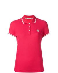 Camisa polo rosa de Moncler