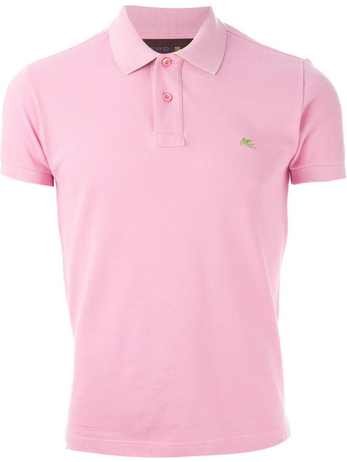 0a9bd15dcf3 Camisa polo rosada de Etro, MEX$2,575 | farfetch.com | Lookastic México