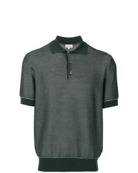 Camisa polo verde oliva de Brioni