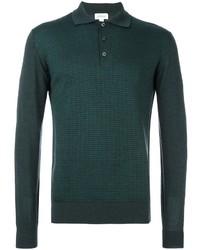 Camisa polo verde oscuro de Brioni
