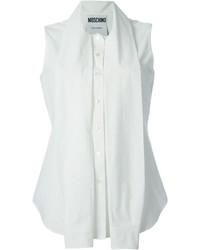 Camisa sin mangas blanca de Moschino