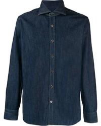 Camisa vaquera azul marino de Barba