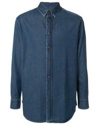Camisa vaquera azul marino de Brioni
