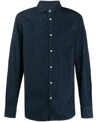 Camisa vaquera azul marino de Deperlu