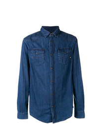 Camisa vaquera azul marino de Emporio Armani