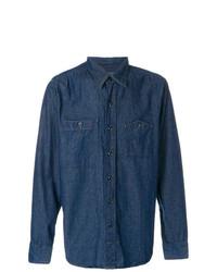 Camisa Vaquera Azul Marino de Engineered Garments