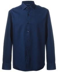 Camisa Vaquera Azul Marino de Etro