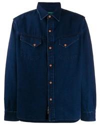 Camisa vaquera azul marino de Hand Picked