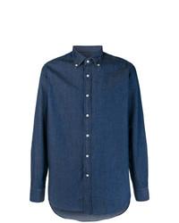 Camisa vaquera azul marino de Mp Massimo Piombo