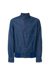 Camisa vaquera azul marino de Neil Barrett