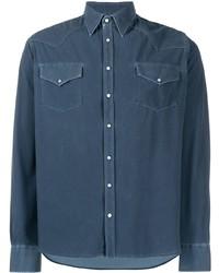Camisa vaquera azul marino de Rrd