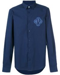 Camisa vaquera azul marino de Versace