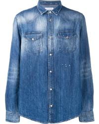 Camisa vaquera azul de Dondup