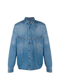 Camisa Vaquera Azul de Palm Angels