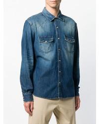 Camisa vaquera azul de 7 For All Mankind