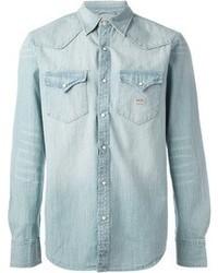 Camisa vaquera celeste original 2930811