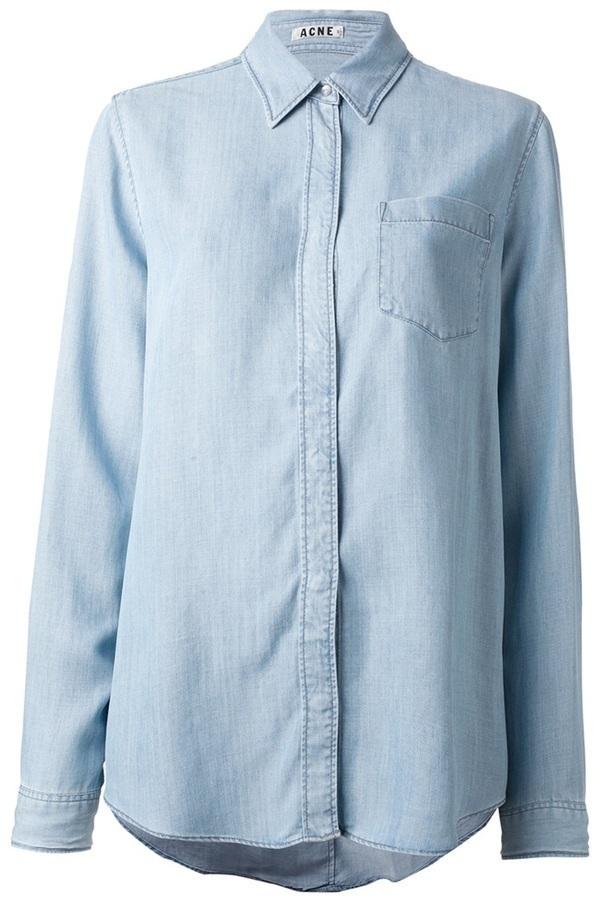 Camisa vaquera celeste de Acne