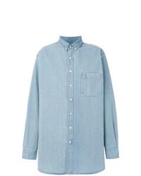 Camisa vaquera celeste de Balenciaga