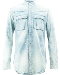 Camisa vaquera celeste de Balmain