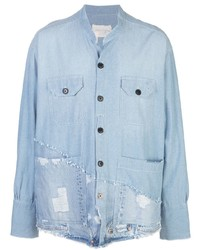 Camisa vaquera celeste de Greg Lauren