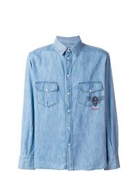 Camisa vaquera celeste de Gucci