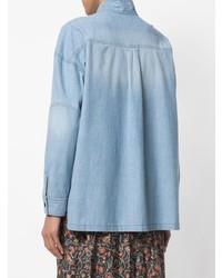 Camisa vaquera celeste de Isabel Marant Etoile