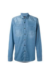Camisa vaquera celeste de Lanvin