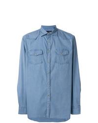 Camisa vaquera celeste de Lardini