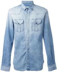 Camisa vaquera celeste de Pierre Balmain