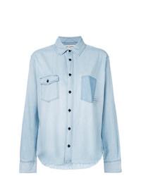 Camisa vaquera celeste de Saint Laurent