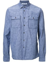 Camisa vaquera celeste de Tomas Maier