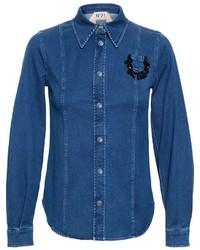 Camisa Vaquera con Adornos Azul de No.21