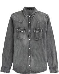 2c0c51ed00 Cómo combinar una camisa vaquera en gris oscuro (13 looks de moda ...