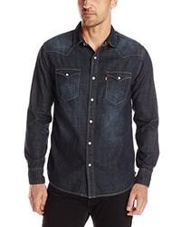 Camisa vaquera en gris oscuro de Levi's