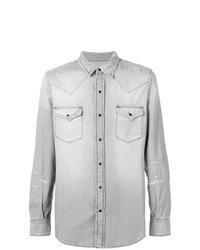 Camisa vaquera gris de Saint Laurent