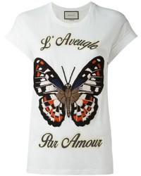 a1cc35f6102b0 Comprar una camiseta blanca Gucci