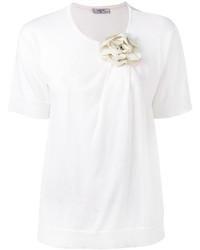 Camiseta con adornos blanca de Lanvin