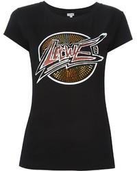 Camiseta con Adornos Negra de Loewe