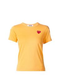 Camiseta con cuello circular amarilla de Comme Des Garcons Play